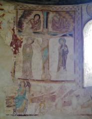 Eglise Saint-Jacques - Deutsch: Chorfresken der Kirche St. Jakobus, Saint-Jacques-de-Guérêts, Département Loir-et-Cher, Region Zentrum-Loiretal, Frankreich
