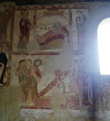 Eglise Saint-Jacques - Deutsch: Langhausfresken der Kirche St. Jakobus, Saint-Jacques-de-Guérêts, Département Loir-et-Cher, Region Zentrum-Loiretal, Frankreich