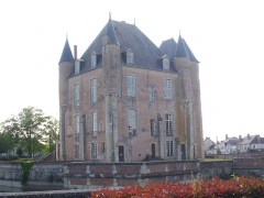 Ancien château - Donjon de Bellegarde (Loiret, France), vu du nord-est