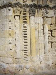 Eglise Notre-Dame - Église Notre-Dame de Bellegarde (Loiret, France): détail du portail occidental