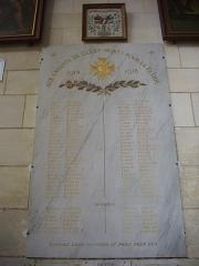 Basilique Notre-Dame - Français:   Basilique Notre-Dame de Cléry-Saint-André (Loiret, France), monument aux morts de la Première Guerre mondiale