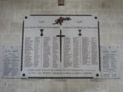 Eglise Saint-Liphard - Français:   Collégiale Saint-Liphard de Meung-sur-Loire (Loiret, France), monument aux morts