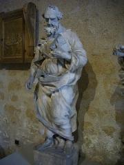 Restes de l'église Saint-Paul - Tour Saint-Paul, à Orléans (Loiret, France), statue de saint Luc, Ernest Lanson, 1855