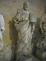 Restes de l'église Saint-Paul - Tour Saint-Paul, à Orléans (Loiret, France), statue de Jésus, Ernest Lanson, 1855