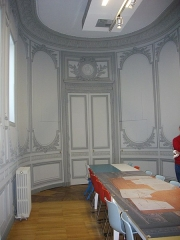 Ancien évêché, puis bibliothèque municipale, actuellement annexe de la médiathèque - Français:   Hôtel Dupanloup, ancien palais épiscopal, à Orléans (Loiret, France), l\'ancienne chapelle