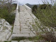 Pont de Spina-Cavallu sur le Rizzanèse -  taken by author from Corsica  Spin'à cavaddu bridge