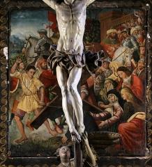 Eglise de la Conception - Français:   Église de la Conception de Bastia; panneau peint vers 1510 représentant Jésus tombant sous le poids de sa croix.