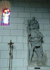 Eglise Saint-Christophe - Français:   Groupe sculpté Saint-Christophe - Église Saint-Christophe - Reuilly - Eure (27)