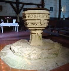 Eglise Saint-Christophe - Français:   Fonts baptismaux - Église Saint-Christophe - Reuilly - Eure (27)