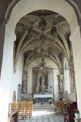 Eglise - Deutsch:   Katholische Kirche Saint-Hilaire in Tillières-sur-Avre im Département Eure (Region Normandie/Frankreich), Seitenschiff