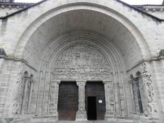 Ancienne abbaye - Français:   Portail méridional de l\'Abbatiale Saint-Pierre de Beaulieu-sur-Dordogne (19).