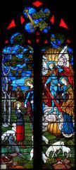 Eglise Saint-Martin - Nederlands:   Donzenac Saint Martin,  glasinlood venster, Louis Balmet