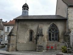 Chapelle dite Chapelle Bleue - Français:   La façade sud de la chapelle bleue, Felletin, Creuse, France.