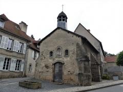 Chapelle dite Chapelle Bleue - Français:   La façade sud-ouest de la chapelle bleue, Felletin, Creuse, France.