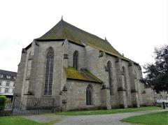 Chapelle Notre-Dame du Château - Français:   Le chevet et la façade nord de l\'église du château, Felletin, Creuse, France.