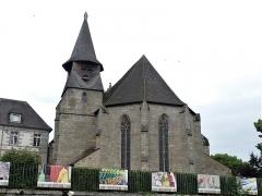 Chapelle Notre-Dame du Château - Français:   Le clocher de l\'église du château, Felletin, Creuse, France.