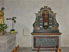 Eglise Sainte-Valérie, dite église du Moutier - Français:   Statue en bois polychrome représentant saint Léonard, église Sainte-Valérie de Felletin, Creuse, France