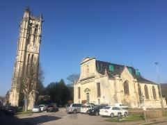 Eglise paroissiale Saint-Pierre de Carville - Nrf: L'église Saint-Pierre ed Carvile en avril ed 2019.