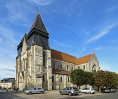 Eglise Saint-Hildebert - Français:   Gournay-en-Bray (département de Seine-Maritime, France): la collégiale Saint-Hildevert
