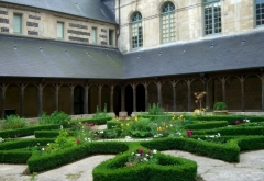 Ancienne abbaye - English:   Cloister, Montivilliers abbey, Normandy, France.