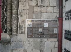 Ancienne abbaye - Deutsch:   Abtei von Montivilliers, Geschichtstafel Datum: 02.05.2011 Urheber: M. Pfeiffer alias Gordito1869 Quelle: privates Fotoarchiv des Urhebers