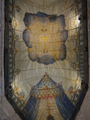 Eglise Saint-Martin - Deutsch: Holzgewölbe der Martinskirche in Veules-les-Roses