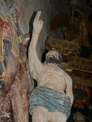 Eglise Saint-Martin - Deutsch:   Segnender Bettler unter dem hl. Martin in der Kirche Veules-les-Roses