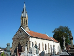 Eglise de Brasse  , actuellement chapelle du cimetière - Français:   église de brasse de Belfort
