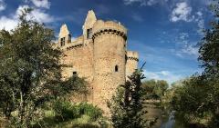 Ruines du château de l'Ebaupinay ou de Baupinay - Français:   Le château de l\'Ébaupinaye (ou Ébaupinay) est un ancien château féodal situé à Le Breuil-sous-Argenton, commune d\'Argentonnay, dans les Deux-Sèvres.  Il a été construit entre le xive et le xve siècle. À la fin du xve siècle, le seigneur de Vendel est propriétaire du château et de son domaine. La bâtisse est ravagée par un incendie en 17961.  Le château est classé Monument historique en 1898. À la fin des années 2010, la famille Corbière, propriétaire depuis le xixe siècle, lutte pour sauver L\'Ébaupinaye et ses cinq hectares de terres, puis met en vente ce domaine.   L\'achat du château et le projet de sa restauration font l\'objet d'une campagne de financement participatif par Dartagnans