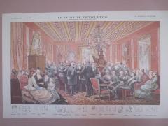 Maison natale de Victor Hugo - Français:   Le salon de Victor Hugo, dessin d'après nature par Adrien Marie (La chronique illustrée, document de la maison natale de Victor Hugo)