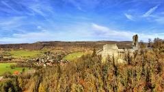 Château de Scey (également sur commune de Cléron) - Français:   Le Castel Saint Denis au dessus de Scey-en-Varais