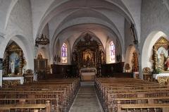 Eglise - Français:   La nef de l\'église.