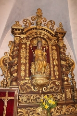 Eglise - Français:   Statue de Notre-Dame de Lausanne.