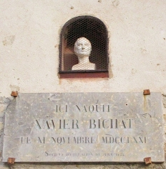 Maison natale de Xavier Bichat - English: Detail from File:Maison natale Bichat Thoirette Coisia septembre 2018 3.jpg by Chabe01
