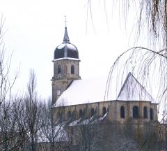 Eglise Saint-Martin -  Eglise de Scey sur Saône en hiver