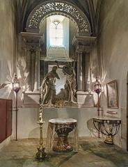 Cathédrale Saint-Michel et abords - English:  Cathédrale St-Michel de Carcassonne - Chapel of baptismal font
