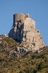 Ruines du château de Quéribus - English: Château de Quéribus, Cucugnan, Département Aude, France