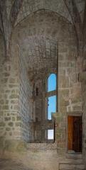 Ruines du château de Quéribus - English: Large Renaissance window, Château de Quéribus, Cucugnan, Département Aude, France