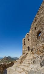 Ruines du château de Quéribus - English: Portal of the third ring wall, Château de Quéribus, Cucugnan, Département Aude, France