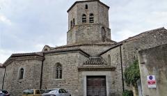 Eglise de l'Assomption - Français:   Rieux-Minervois - Église de l\'Assomption-de-Notre-Dame - Extérieur, côté nord-ouest