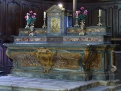 Eglise Saint-Paul, ancienne église des Cordeliers - Français:   Beaucaire (Gard, France), église St Paul, ancienne église conventuelle des Cordeliers, dans le chœur, maître-autel en marbre polychrome.