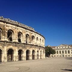 Amphithéatre ou Arènes - English: Nîmes, Arena of Nîmes.