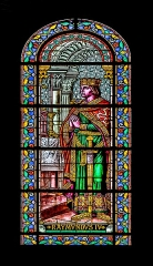 Cathédrale Notre-Dame et Saint-Castor - English: Stained-glass window of the Cathedral of Our Lady and Saint Castor of Nîmes, Gard, France