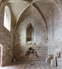 Ancienne chartreuse du Val-de-Bénédiction -  Chapter room..
