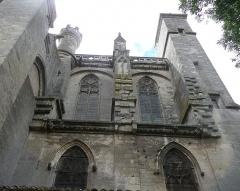 Ancienne cathédrale Saint-Nazaire et cloître Saint-Nazaire - mur nord de la nef,correspondant à peu-près au narthex