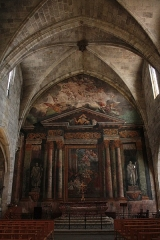 Chapelle des Pénitents Bleus - Français:   Chapelle des Pénitents: Peintures monumentales du chevet. 17e siècle. Classé aux M.H.: PM34000123.