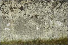 Villa gallo-romaine - Français:   Carrière de la Cambrasse-Les Escaliers. Marques d\'outils de carriers (escoudos), vraisemblablement antiques,  dans la couche calcaire inférieure. Détails. Lespignan, Hérault.