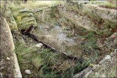 Villa gallo-romaine - Français:   Vue d\'ensemble oblique de la grande piscine, \
