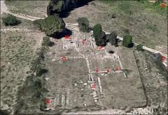Villa gallo-romaine - Français:   Site de Vivios , vue générale oblique, d\'après Google Earth et une photo aérienne de drone.