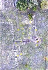 Villa gallo-romaine - Français:   Vue aérienne partielle du site gallo-romain de Vivios (Lespignan, ouest de l\' Hérault)- Photographie prise depuis un drone.(F.Jaladieu)